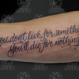 Tattoo Text tattoo by Pieter pas