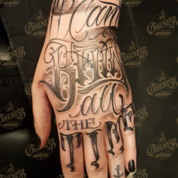 Tattoo Hand lettering by Pieter pas