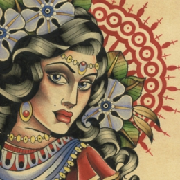 Tattoo Gypsy painting by Vincent penning
