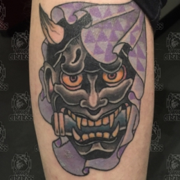 Tattoo Hannya mask by Vincent penning