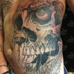 Tattoo Skull big by Darko groenhagen